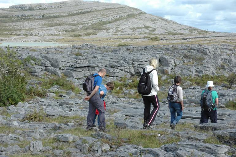 Hikers on The Burren