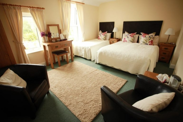 Ballinsheen House Lisdoonvarna B&B family room