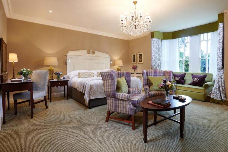 luxury bedroom at Dromoland